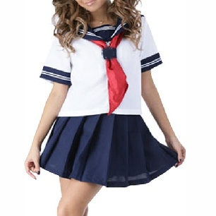 Short Sleeves School Halloween Uniform Cosplay Costume