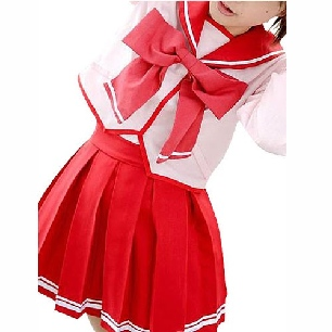 Top Suitable Ideal Superior Short Sleeves Sailor School Uniform Cosplay Costume