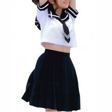 Perfect Unusual Ideal Superior Short Sleeves Sailor School Uniform Cosplay Costume