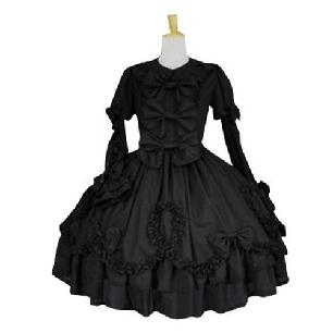 Black Long Sleeves Classic Lolita Cosplay Dress