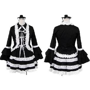 Superior Black Lolita Cosplay Costume