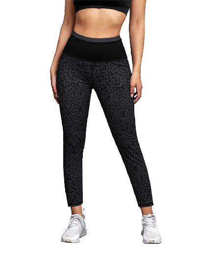 Black Yoga Pants Leopard Print Active Slim Fit Leggings