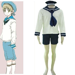 Axis Powers N. Italy Sailor Suit Cosplay Costume