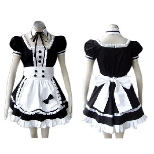 Popular Black Gothic Lolita Cosplay Costume