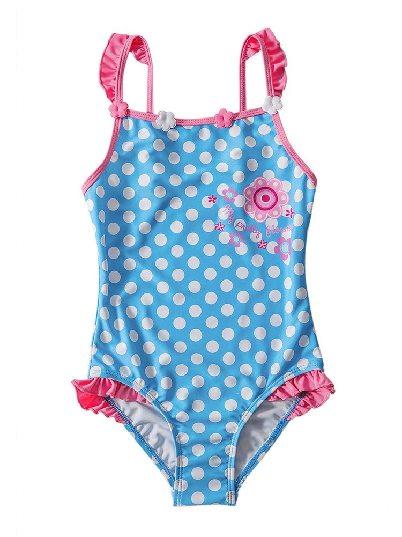 Polka Dot Printing Polka Dot One Piece Swimsuit for Kids