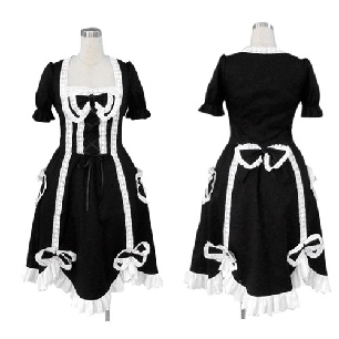 Ideal Top Black Gothic Lolita Cosplay Costume