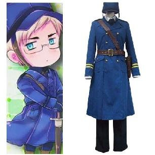 Hetalia Axis Powers Sweden Berwald Oxenstierna Cosplay Costume