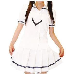 White Short Sleeves School Uniform