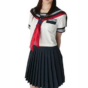 Unusual Short Sleeves Sailor School Uniform Cosplay Costume